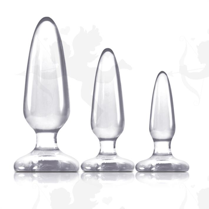 Cód: SS-NO-0435-21 - Kit de plugs anales transparentes - $ 2750