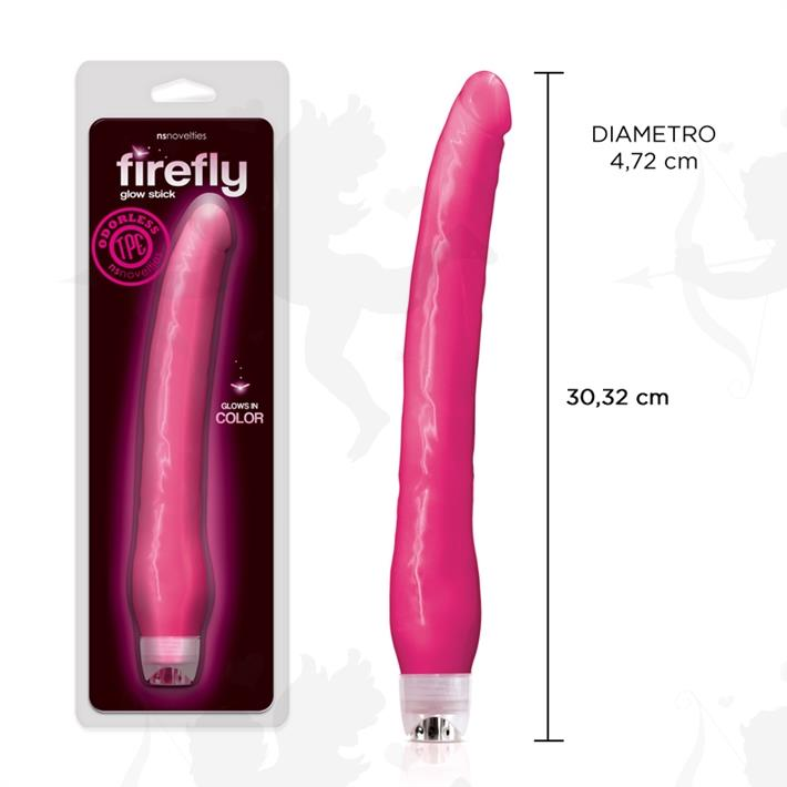 Vibrador fluorescente con suave textura y 30 cm