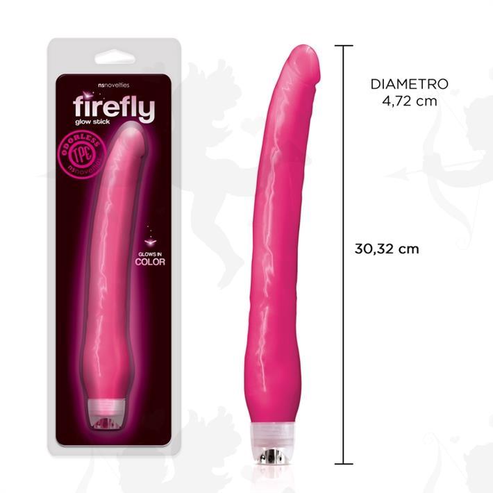 Cód: SS-NO-0481-14 - Vibrador fluorescente con suave textura y 30 cm - $ 8775