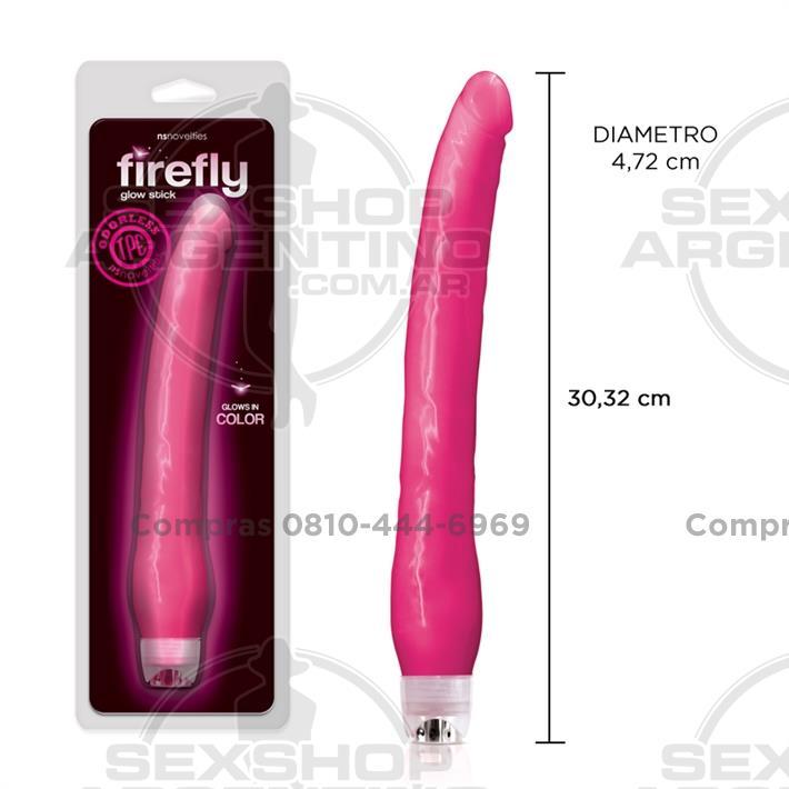 - Vibrador fluorescente con suave textura y 30 cm