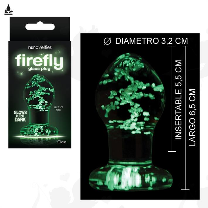 Cód: SS-NO-0490-11 - Plug anal de vidrio que brilla en la oscuridad - $ 2300