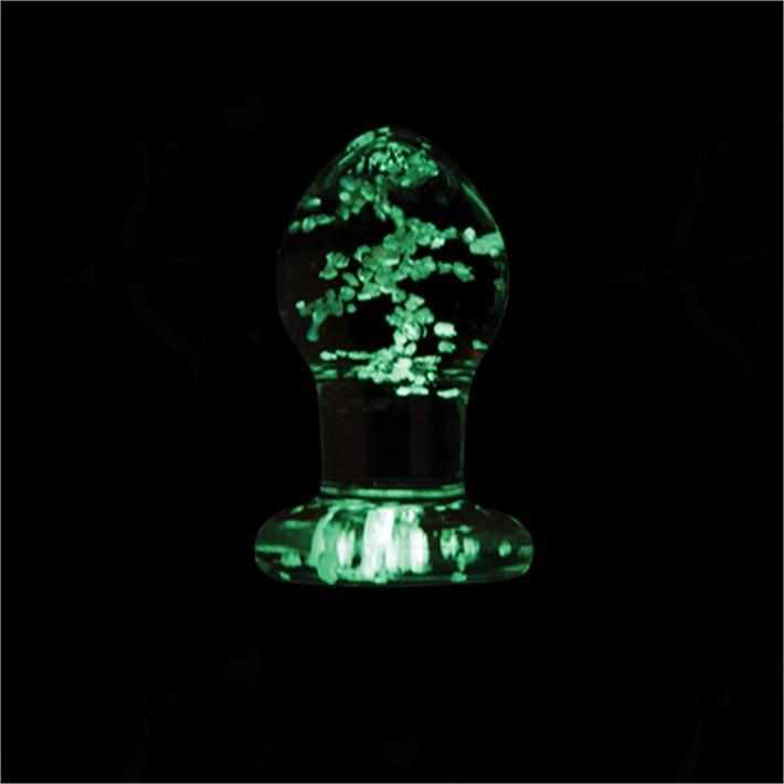 Plug anal de vidrio que brilla en la oscuridad