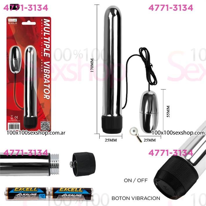 Cód: CA SS-PL-006031 - Vibrador rigido con bala vibradora externa - $ 2660