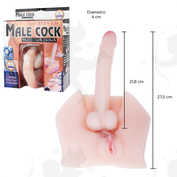 Vagina mas dildo de silicona con control de temperatura y distintas vibraciones