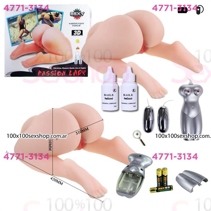 Cód: CA SS-PL-009130 - Piernas, cola y vagina en ciberskin. Temp, vibracion y Voz - $ 31760