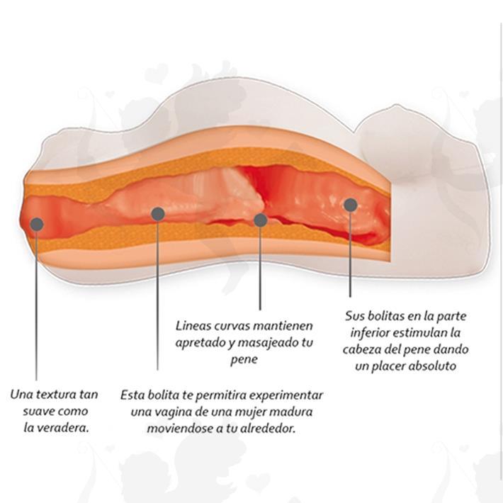 Vagina realistica con panza de embarazada y pecos