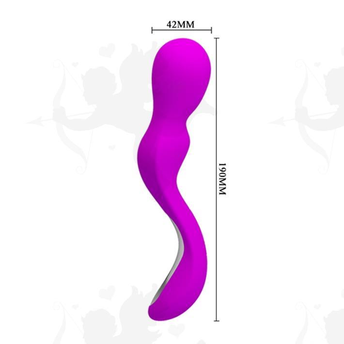 Vibrador para la estimulación clitorial con carga USB y 30 modos de vibración