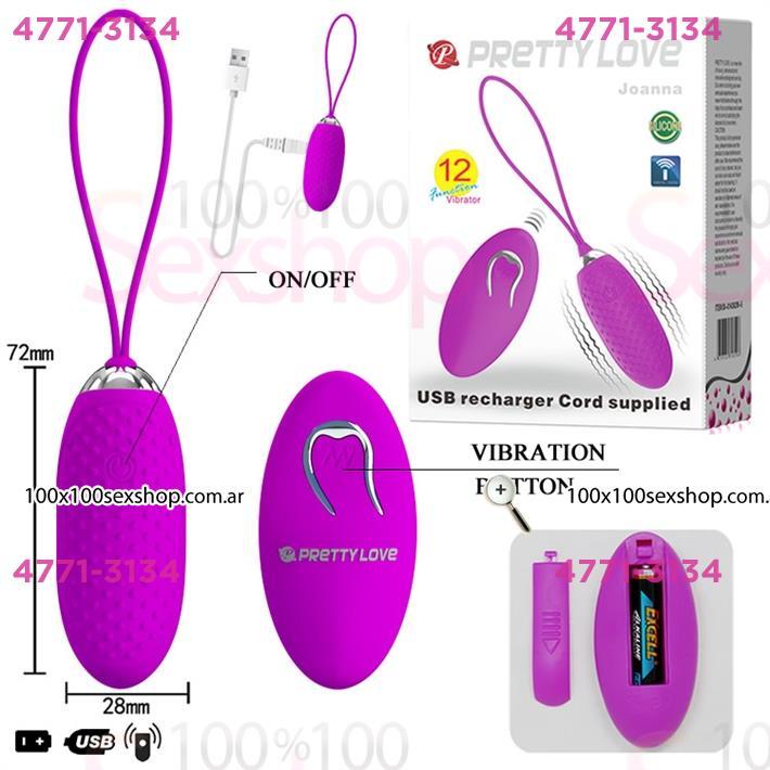 Estimulador de clitoris con 12 velocidades de vibracion control remoto y usb