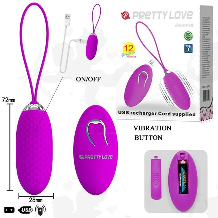 Bala vibradora con control inalambrico y 12 modos de vibracion con carga usb
