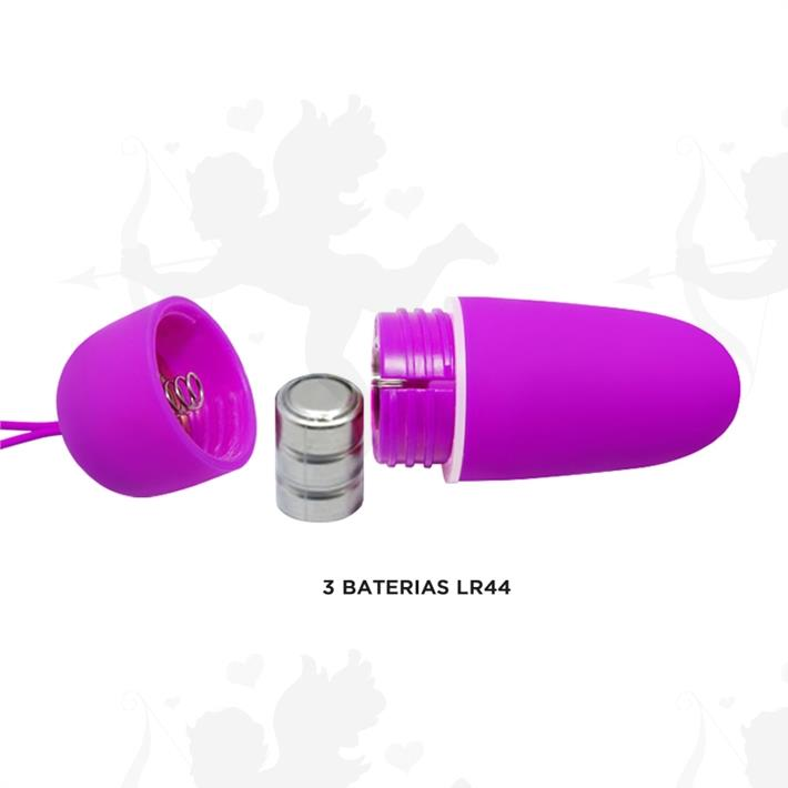 Bala vibradora siliconada con 12 funciones y control inalambrico