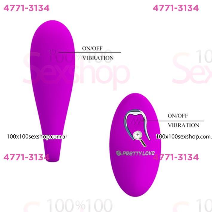 Doble vibrador estimulador de punto G y clitoris. Inalambrico y USB