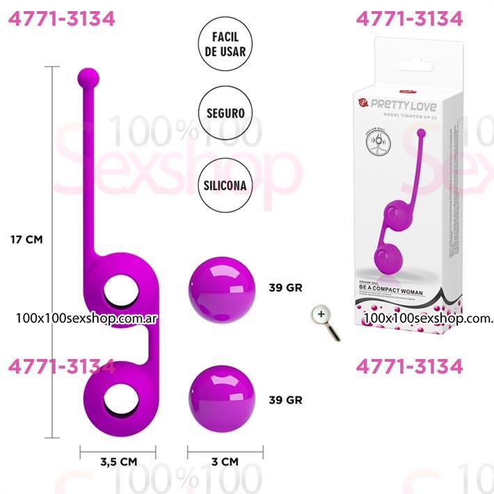 Cód: CA SS-PL-014493-2 - Bolitas kegel con bolitas internas para estimulacion  - $ 3300