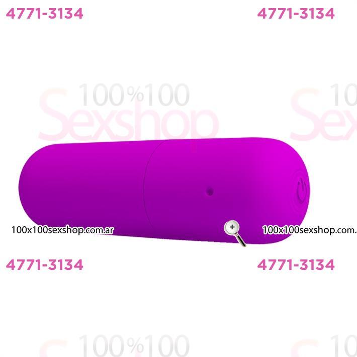 Cód: CA SS-PL-014501 - Bala vibradora con 12 funciones y carga USB - $ 3700