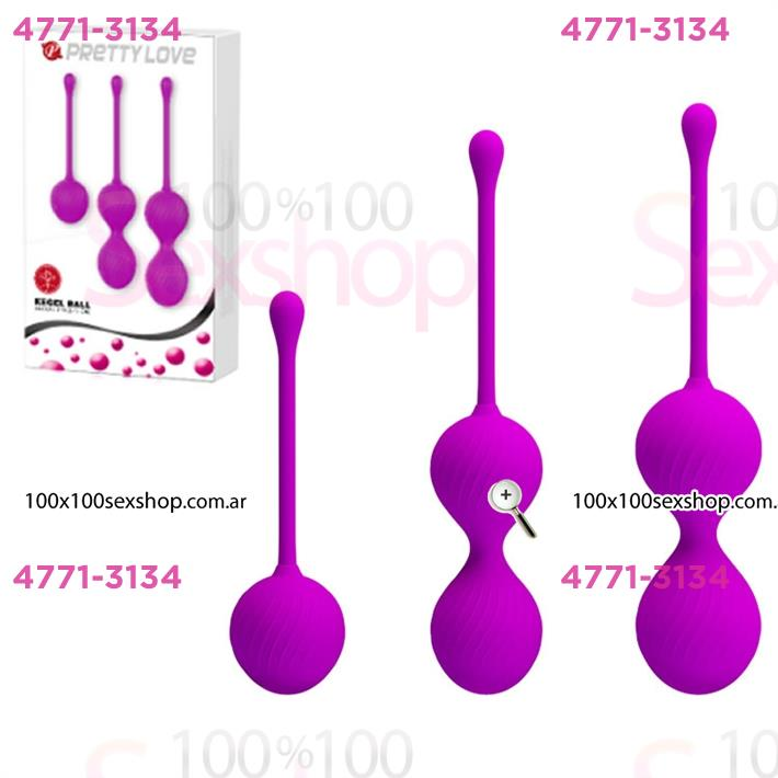 Cód: CA SS-PL-014505 - Kit x 3 de bolas chinas de 3 tamaños - $ 2950