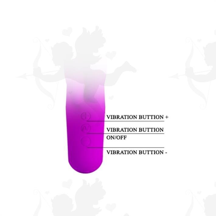 Vibrador con estimulacion clitorial y carga USB