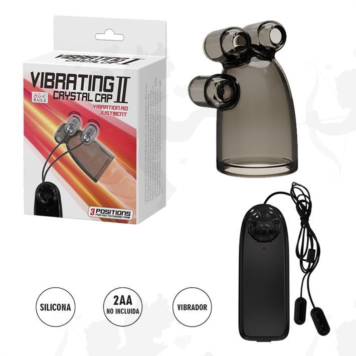 Cód: SS-PL-014630 - Funda para pene con doble vibrador - $ 3130