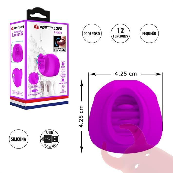Estimulador de clitoris con 12 funciones de estimulacion y carga USB