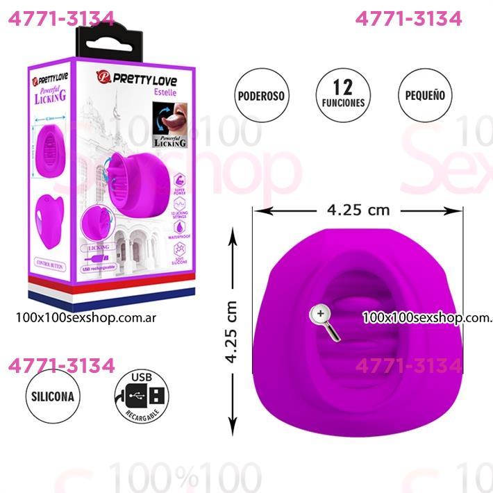 Cód: CA SS-PL-014753 - Estimulador de clitoris con 12 funciones de estimulacion y carga USB - $ 5950