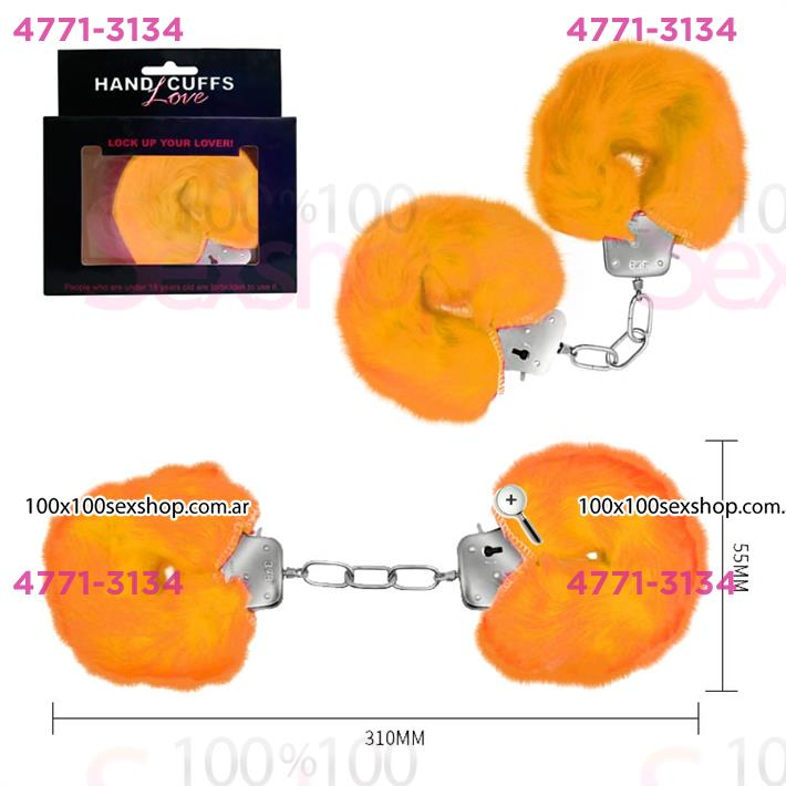 Cód: CA SS-PL-026024NA - Esposas de metal con cubierta de peluche suave - $ 1440