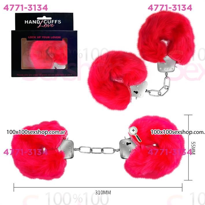 Cód: CA SS-PL-026024RO - Esposas de metal cubiertas de peluche rosa - $ 1200
