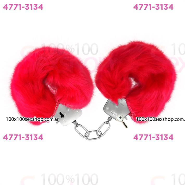 Cód: CA SS-PL-026024RO - Esposas de metal cubiertas de peluche rosa - $ 1440