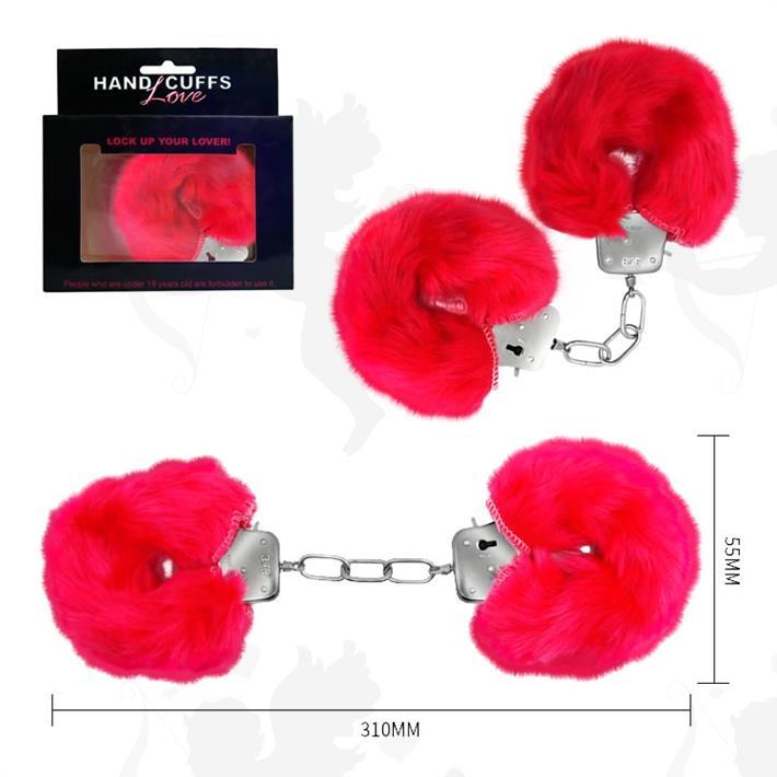 Cód: SS-PL-026024RO - Esposas de metal cubiertas de peluche rosa - $ 1440
