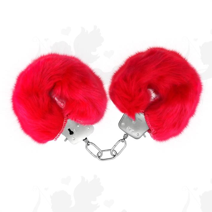 Cód: SS-PL-026024RO - Esposas de metal cubiertas de peluche rosa - $ 1200