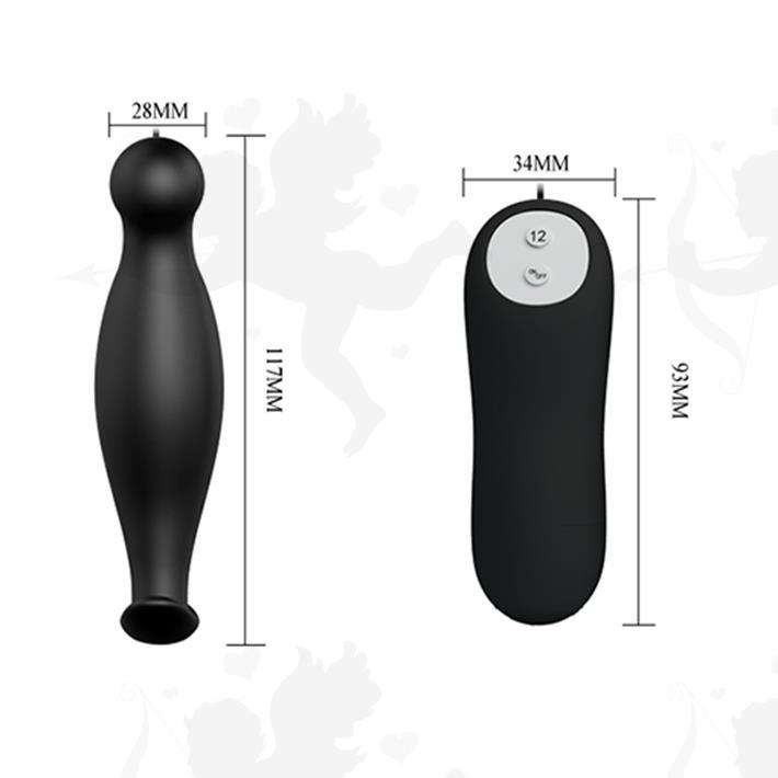 Vibrador anal con 12 velocidades de estimulación