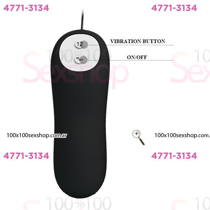 Plug anal con vibro 12 intensidades