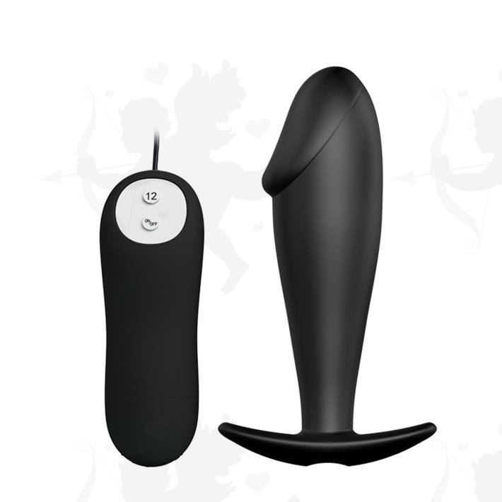 Vibrador anal con 12 velocidades de vibracion