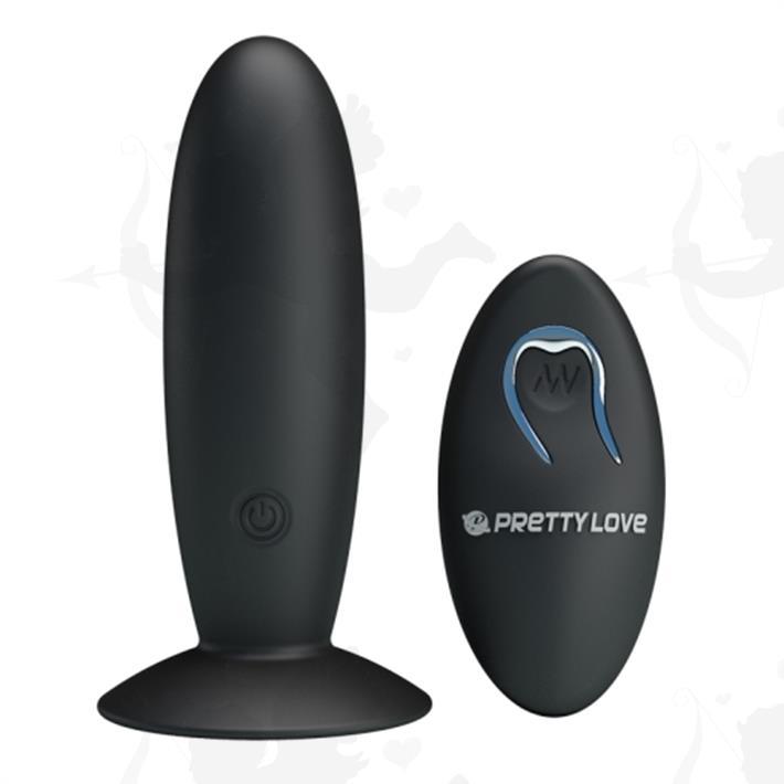 Dilatador anal liso con control remoto y carga USB