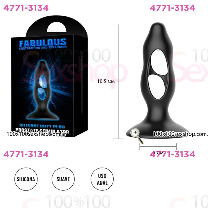 Cód: CA SS-PL-040056 - Dilatador anal con sopapa de suave textura - $ 2200