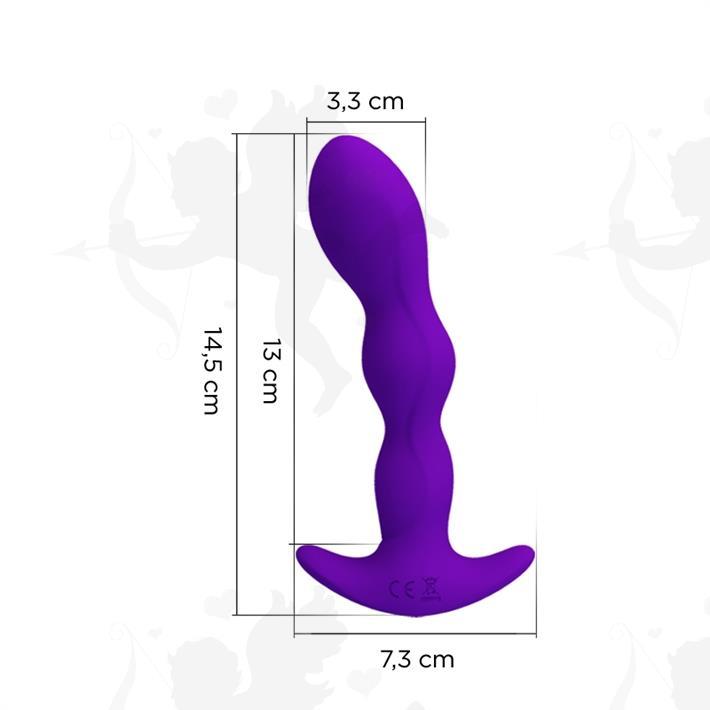 Dilatador anal con 12 modos de vibracion y carga USB