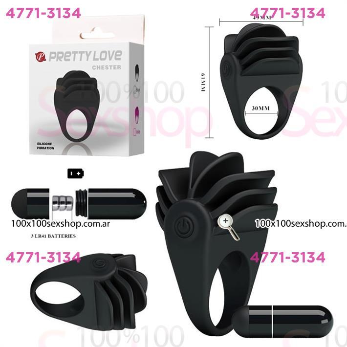 Cód: CA SS-PL-210137 - anillo vibrador escamado negro - $ 2300