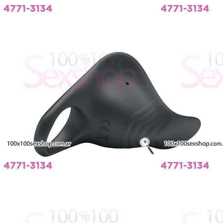Anillo con estimulador de clitoris con 7 modos de vibracion