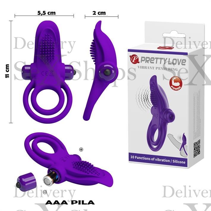Anillo con estimulador de clitoris vibrador