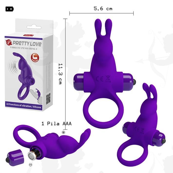 Cód: SS-PL-210204-1 - Anillo con potente vibrador conejo con 10 velocidades - $ 3700