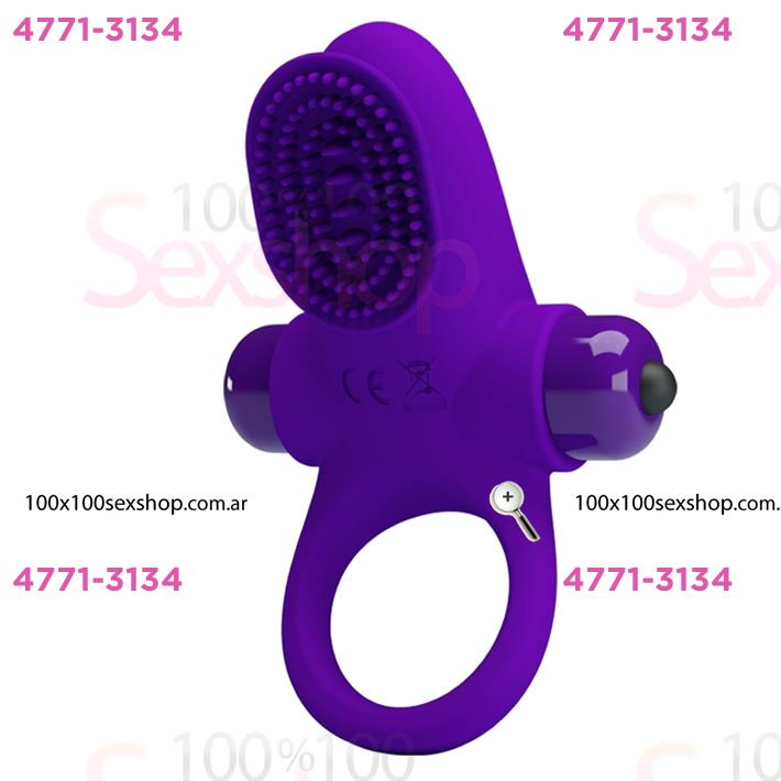 Cód: CA SS-PL-210205-1 - Anillo con masajeador de clitoris y 10 modos de vibracion - $ 2585