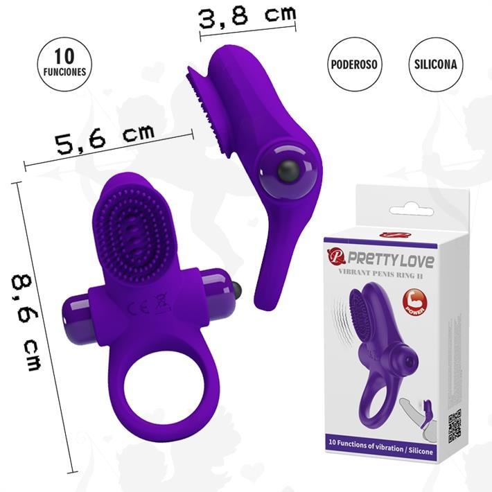 Cód: SS-PL-210205-1 - Anillo con masajeador de clitoris y 10 modos de vibracion - $ 3700