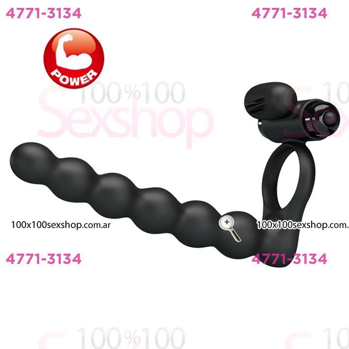 Cód: CA SS-PL-210218 - Anillo con vibrador para doble penetracion - $ 5340