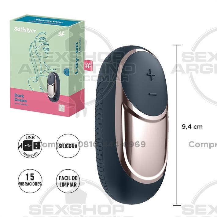- Dark Desire bala vibradora con 10 velocidades y carga USB