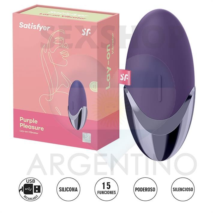 Purple Pleasure estimulador de clitoris con carga USB