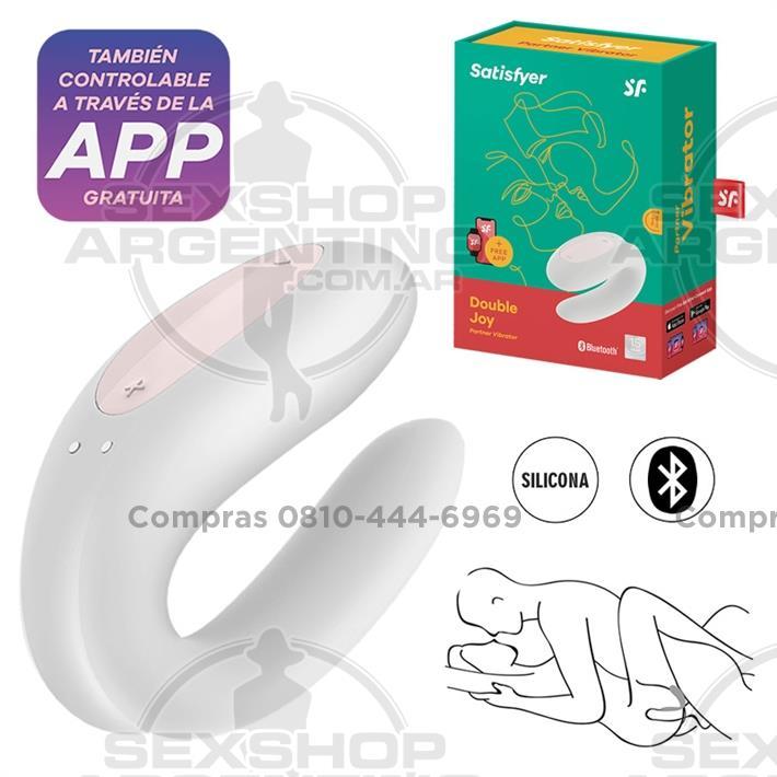 - Double Joy White estimulador para parejas con control via APP