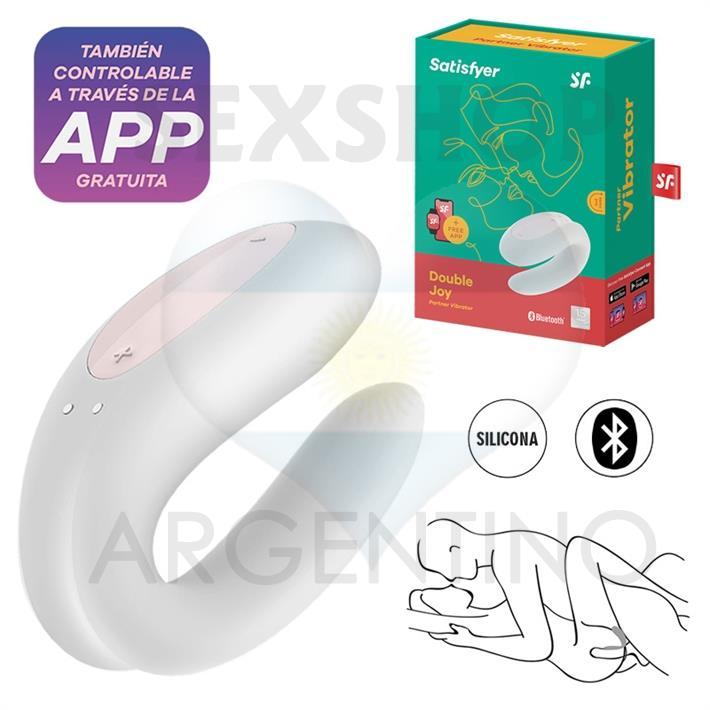 Double Joy White estimulador para parejas con control via APP