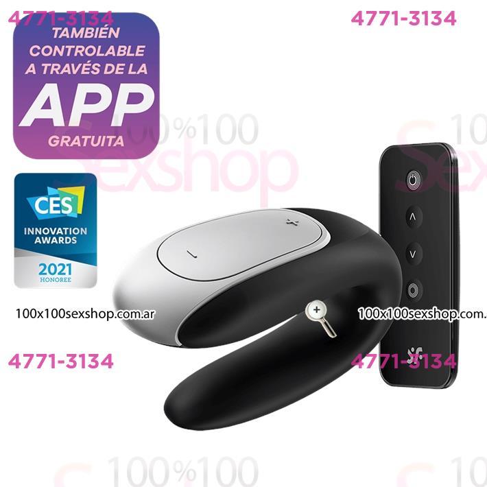 Cód: CA SS-SA-1722 - Double fun vibrador con control remoto para parejas y carga USB - $ 10990