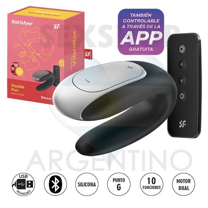 Double fun vibrador con control remoto para parejas y carga USB