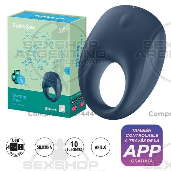 - Strong One Ring anillo vibrador con control mediante APP