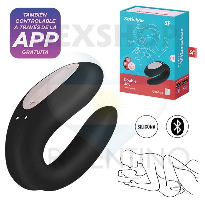 Double Joy Black estimulador para parejas con control via APP