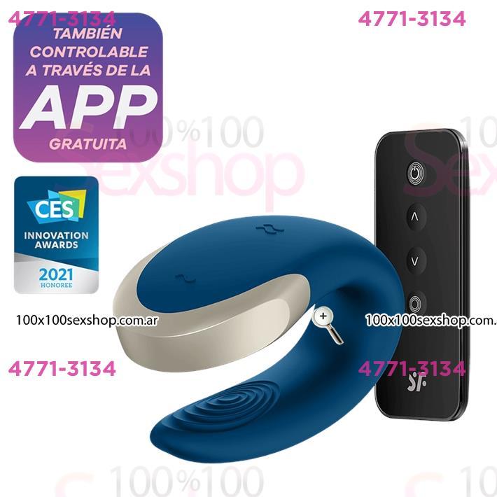 Cód: CA SS-SA-2446 - Double Love vibrador para parejas con control remoto y carga USB - $ 12150