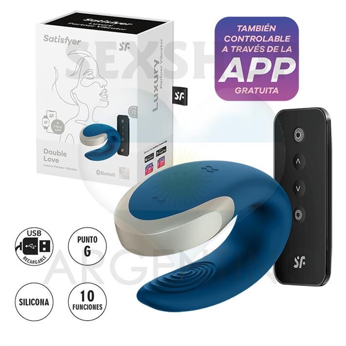 Double Love vibrador para parejas con control remoto y carga USB